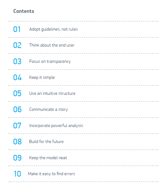 The 10 SMART guidelines